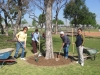 Rotarians at work in the community.JPG