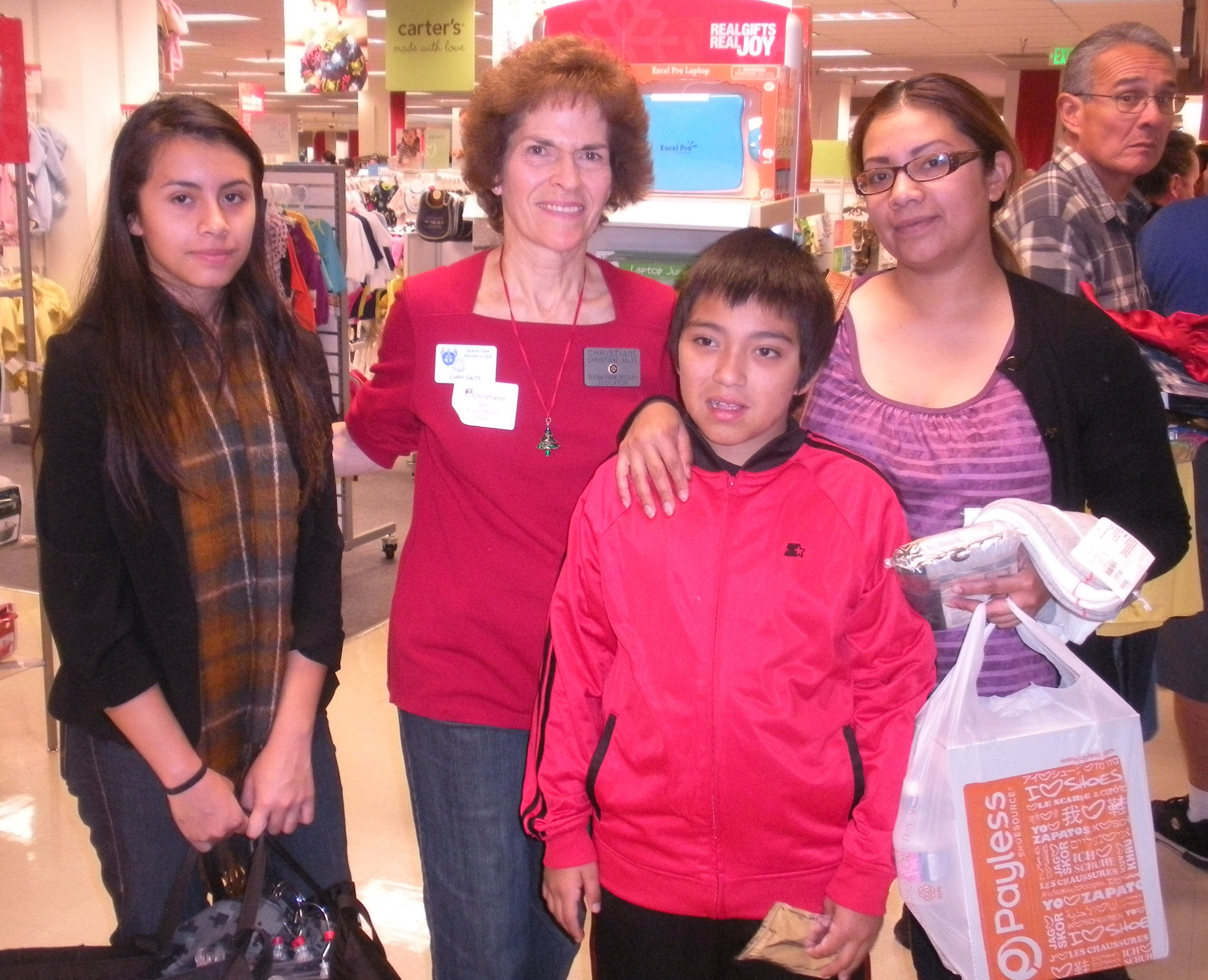 Christiane with Mom, daughter and son from Speech & Language.JPG