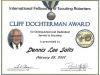 Cliff Dochterman Community Service Award Dennis Lee Salts 2.2007.jpg
