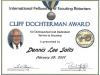 Cliff Dochterman Community Service Award Dennis Lee Salts 2.2007.jpg