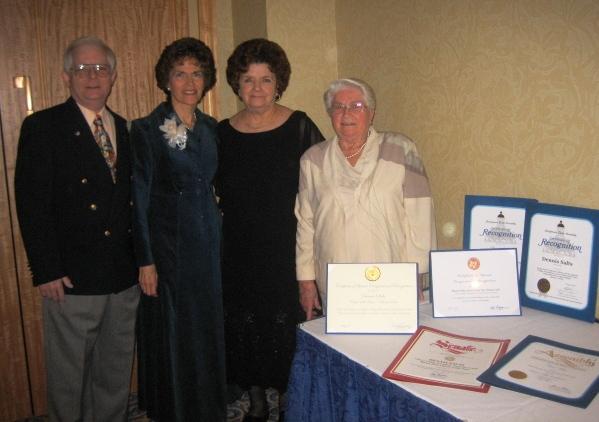 Dennis, Christiane, Mary & Victoria with awards.JPG
