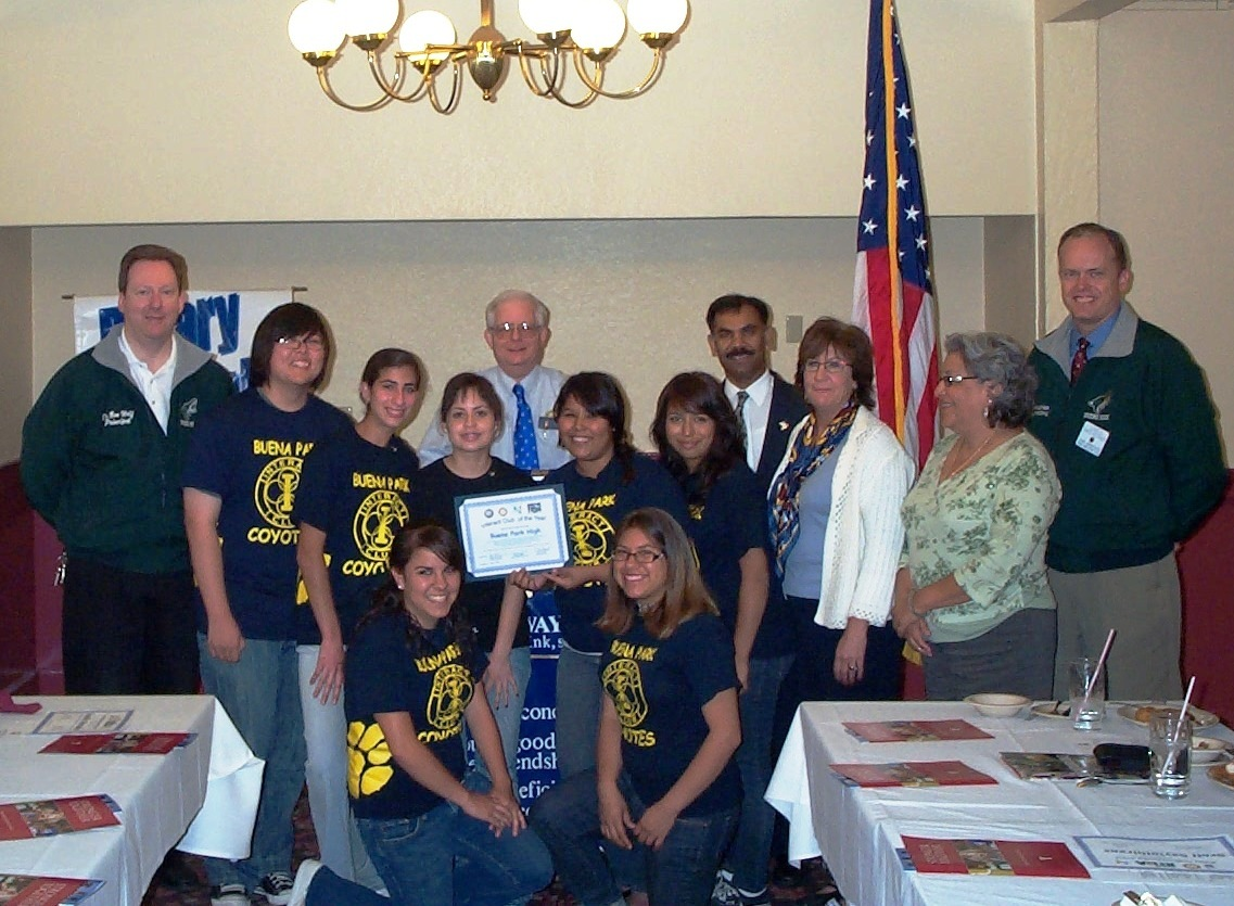 WK44 Buena Park High Interact Club of the Year 2007-08 picture.JPG