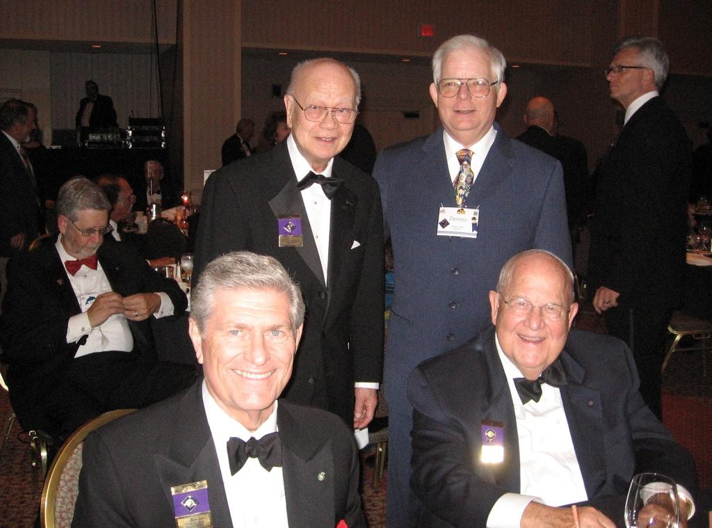 Past RI President Rick King, Cliff Dochterman & M.A.T. Caparas with SIG Dennis Salts Sep 2008.jpg