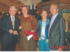 At Munich Rotary Club Dennis Salts, Gabriela Bracklo, Christiane Salts, Adam Fritz.jpg