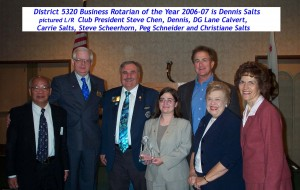 2007.04 01 District Business Rotarian of the year April 20, 2007