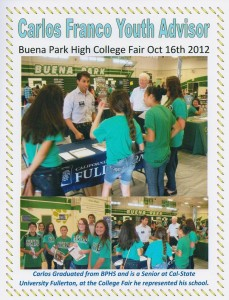 2012.10 05 Carlos at BPHS College Fair