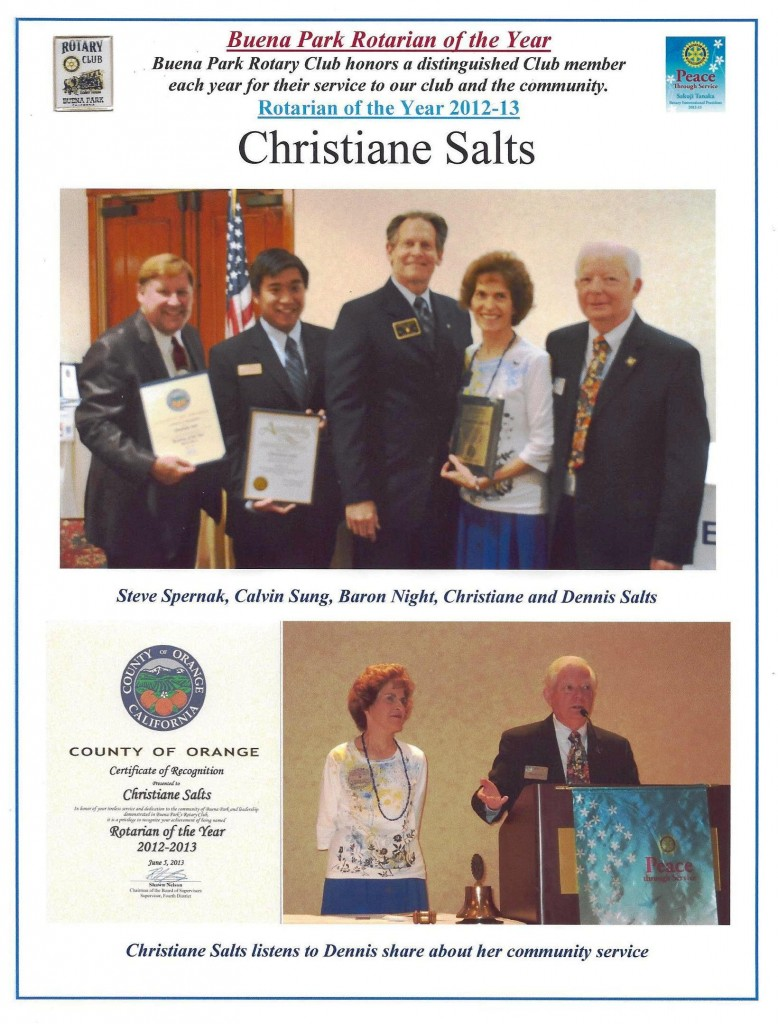 2013.06 02 Christiane Salts Rotarian of the Year