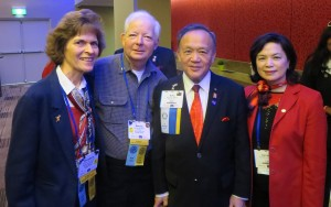With Gary Huang and wife