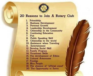 20 reasons to join Rotary