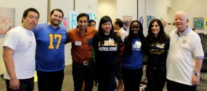 Dennis with Rotaractors